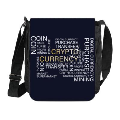 Сумка на плечо (мини-планшет) Цифровая валюта. Криптовалюта.