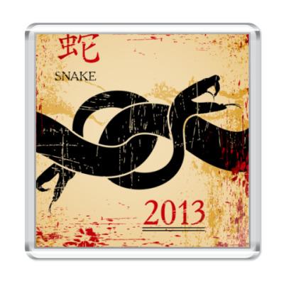 Магнит Змея - символ 2013 года