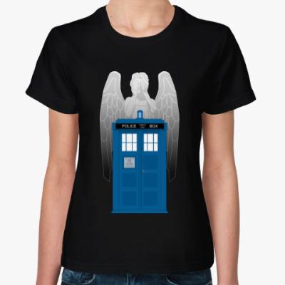 Женская футболка Weeping Angel Doctor Who