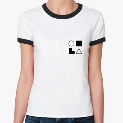 Женская футболка Ringer-T  СЛИ (Габен)