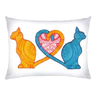 Подушка Влюбленные коты