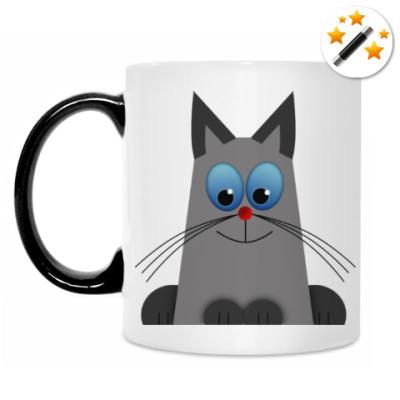 Кружка-хамелеон Голубоглазый котик