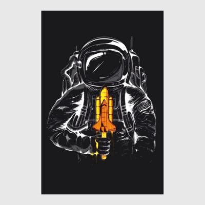 Постер Космонавт с леденцом