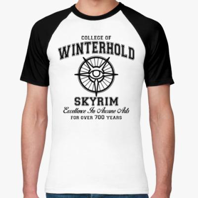 Футболка реглан Skyrim . College of Winterhold