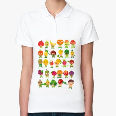 Женская рубашка поло Фрукты, Овощи и Ягоды