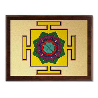 Плакетка Вимана-янтра для медитаций