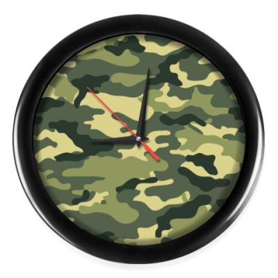 Настенные часы Камуфляжный, защитного цвета