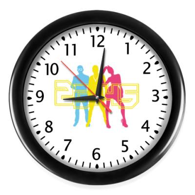 Настенные часы Часы (черные ц-ры/стр-ки)