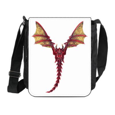 Сумка на плечо (мини-планшет) Дракон