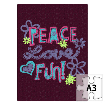 Пазл Мир, Любовь, Веселье!