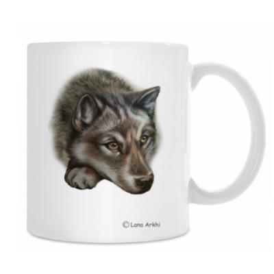 Кружка Грустный волк