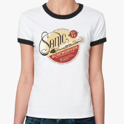 Женская футболка Ringer-T Sonic Screwdriver