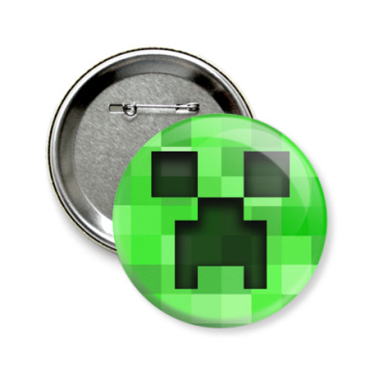 Значок 58мм Minecraft Creeper