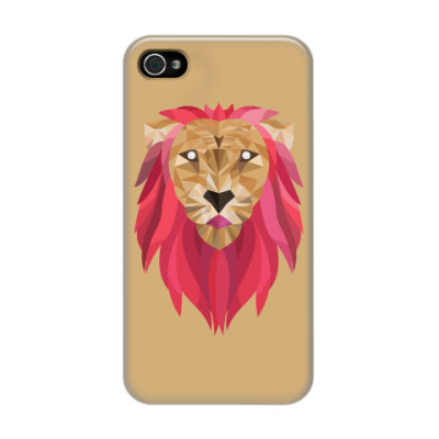 Чехол для iPhone 4/4s Лев / Lion