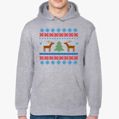 Толстовка худи Зимний свитер с оленями