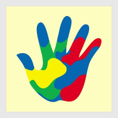 Постер Отпечаток Руки