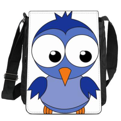 Сумка-планшет Синяя птичка
