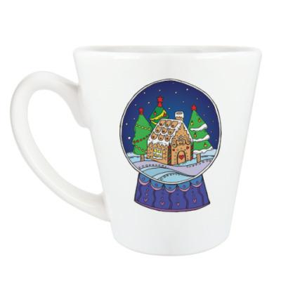 Чашка Латте Снежный шар