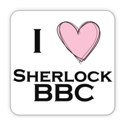 Костер (подставка под кружку) I love Sherlock