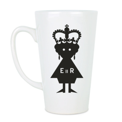 Чашка Латте Королева Елизавета II