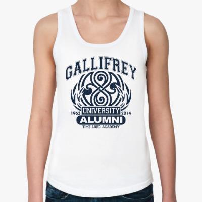 Женская майка Gallifrey University Alumni