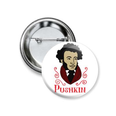 Значок 37мм Пушкин