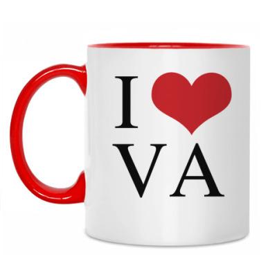 Кружка I love VA
