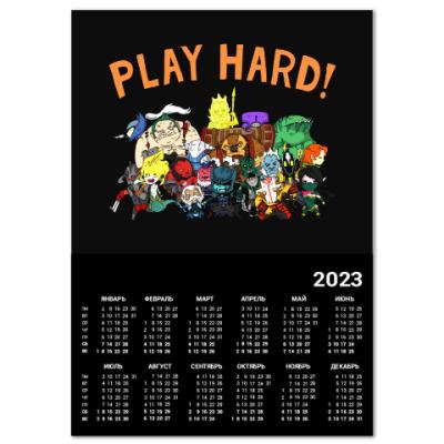 Календарь Play Hard!