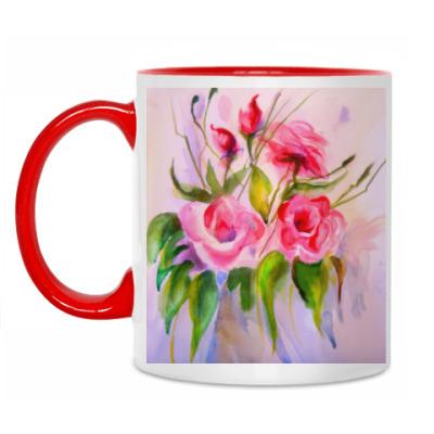 Кружка Акварельные цветы