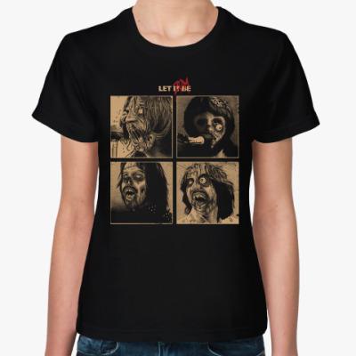 Женская футболка The Beatles Zombie фанарт