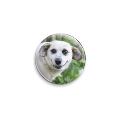 Значок 25мм Собака - улыбака