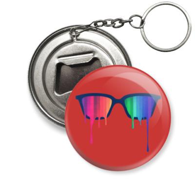 Брелок-открывашка Хипстер: очки