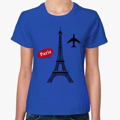 Женская футболка Париж, Франция