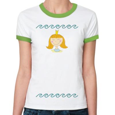 Женская футболка Ringer-T Принцесса с короной