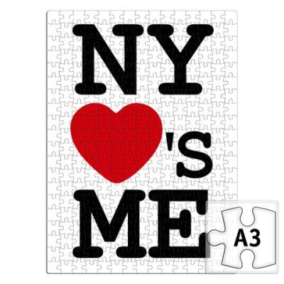 Пазл    I Love NY Loves Me