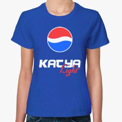 Женская футболка Катя - Пепси Лайт