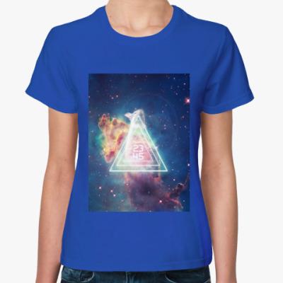 Женская футболка космос жен