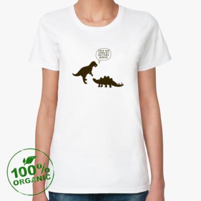 Женская футболка из органик-хлопка Динозавры