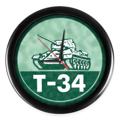 Настенные часы Танк Т-34