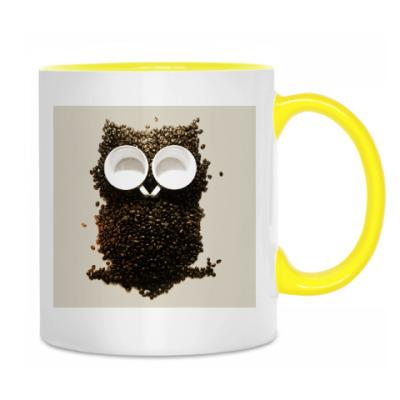 Кружка кофейная сова