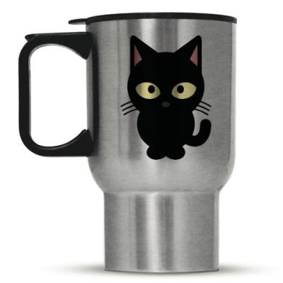 Кружка-термос Черный Котик
