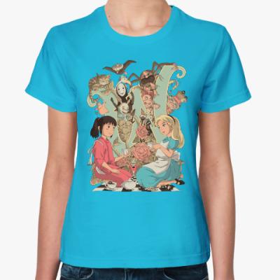 Женская футболка Wonderland Alice and Chihiro