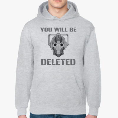 Толстовка худи You will be DELETED Doctor Who