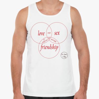 Майка LOVE, SEX, FRIEND