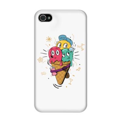 Чехол для iPhone 4/4s Смешные шарики мороженного
