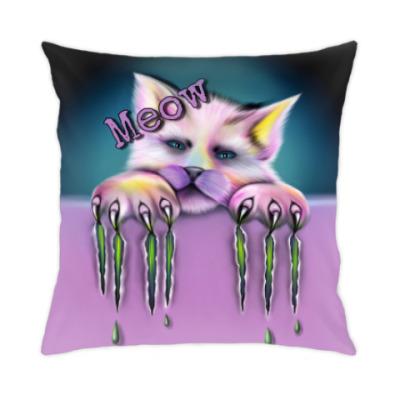 Подушка Sad cat