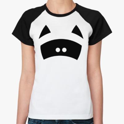 Женская футболка реглан Я енот