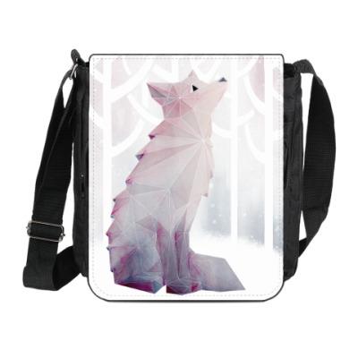 Сумка на плечо (мини-планшет) Зимний Лис в снегу Winter fox