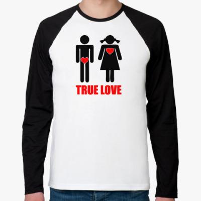 Футболка реглан с длинным рукавом True Love