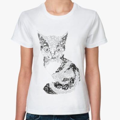 Классическая футболка 'котик'